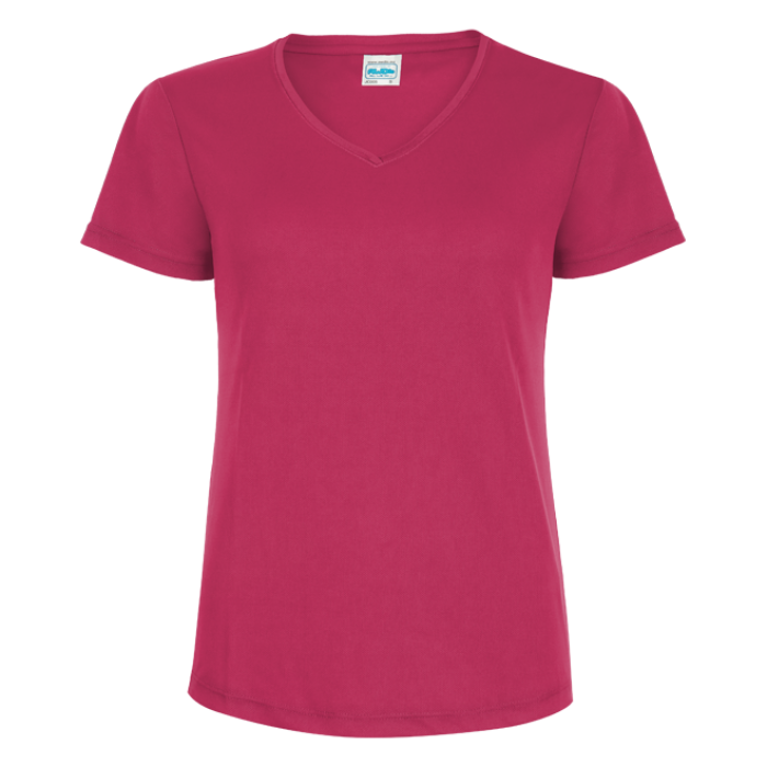 Damen Lauftrikot basic V-Neck