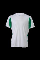 Fussball Trikot Contrast weiß/grün