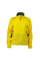 Ladies Running Jacket lemon-irongrey