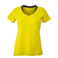 Damen Running Shirt lemon/irongrey