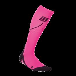 CEP Damen Sport Kompressionsstrümpfe NIGHT RUN SOCKS 2.0 pink/schwarz