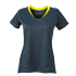 Damen Running Shirt irongrey/lemon