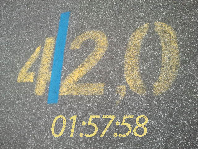Marathon in 01:57:58