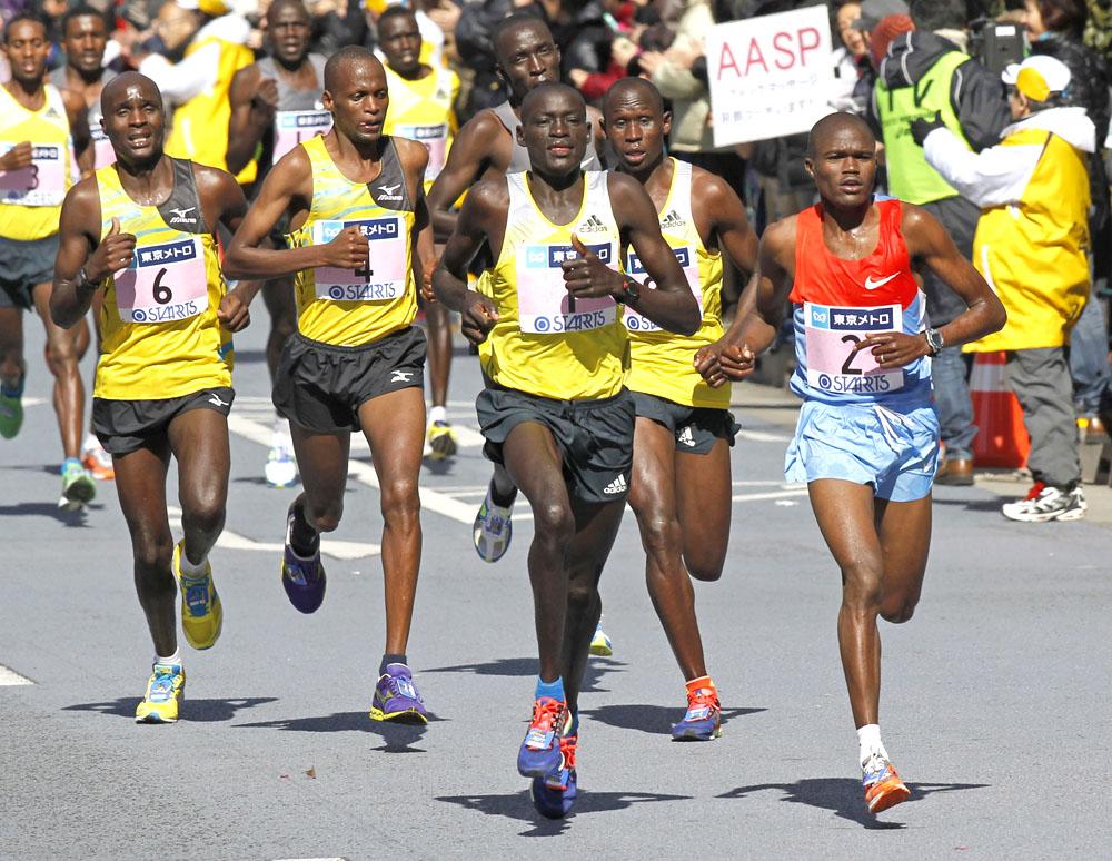 Ostafrikanische Läufer dominieren den Marathon