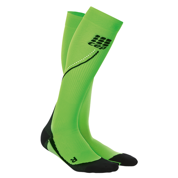CEP Herren Night Run Socks 2.0 neongrün/schwarz