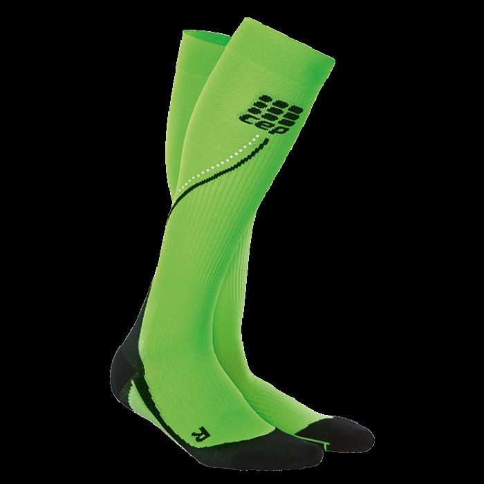 CEP Damen Night Run Socks 2.0 neongrün/schwarz