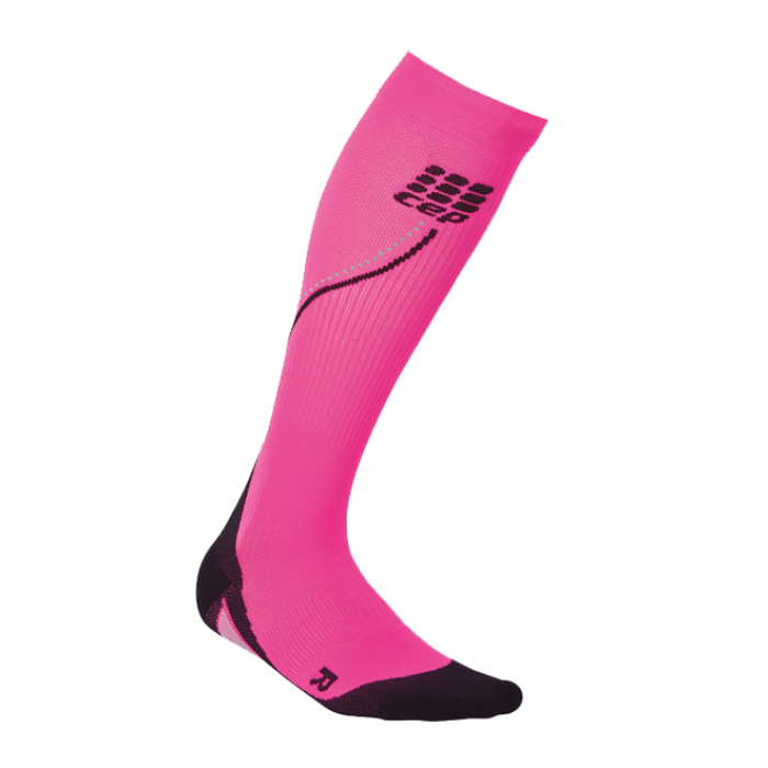 CEP Damen Night Run Socks 2.0 pink/schwarz