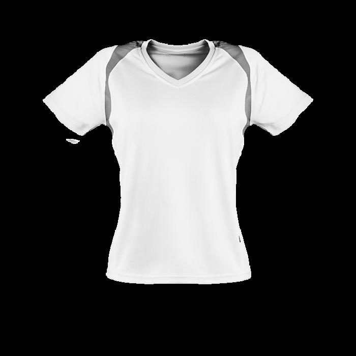 Marathon Shirt Damen weiß/silber