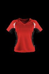 Damen Laufshirt rot/schwarz
