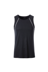 Endurance Lauf Tank Top Men Schwarz