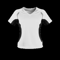 Damen Laufshirt Weiß/schwarz
