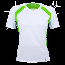 Laufshirt Marathoni Women weiß/limegrün