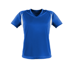 Damen Funktionsshirt blau/weiß
