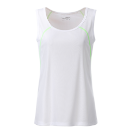 Lauf Tank Top Women weiß/lime