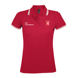 Damen Polo Shirt MTV Herrenhausen Rot