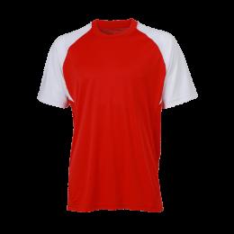Fussball Trikot Teamsport Rot/Weiß bedrucken