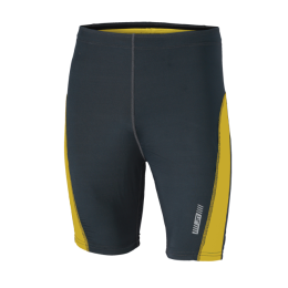 Men's Running Short Tights irongrey-lemon