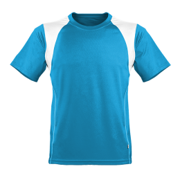 Kinder Marathon Shirt türkis/weiß