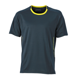 Running Shirt irongrey/lemon