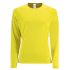 Damen Sport T-Shirt langarm neongelb