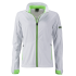 Damen Sport Softshell Jacke weiß/lime