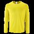 Herren Sport T-Shirt langarm neongelb