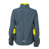 Ladies Running Jacket irongrey/lemon Rückseite