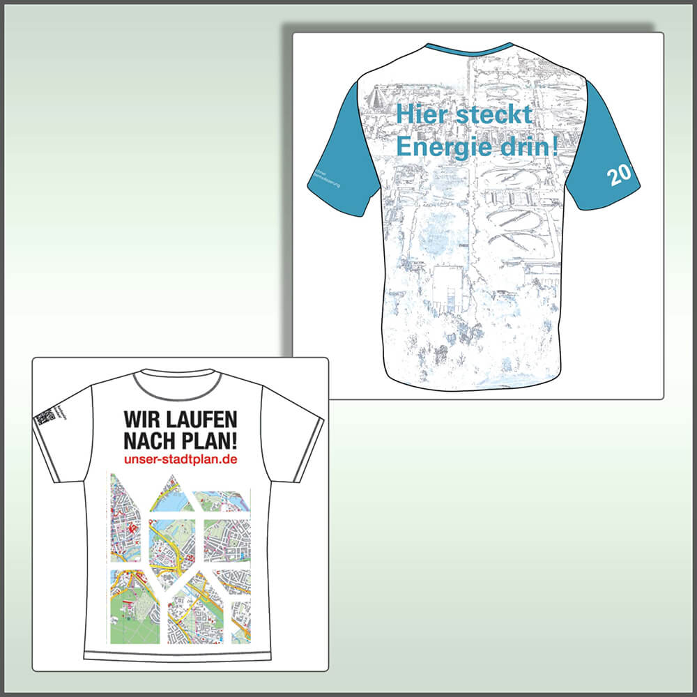 Firmenlaufshirts All-Over Druck