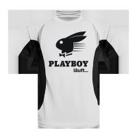 Laufshirt bedruckt mit Playboy Logo
