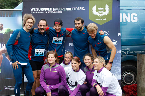 Puma-Mannschaft-Survival-Run