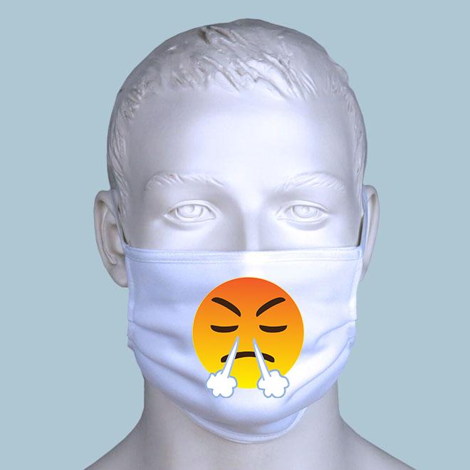 Wütender Emoji Maske gestalten