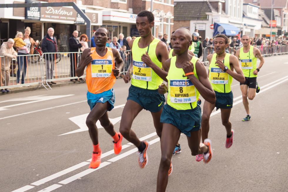 Afrikanische Läufer beim Wettlampf